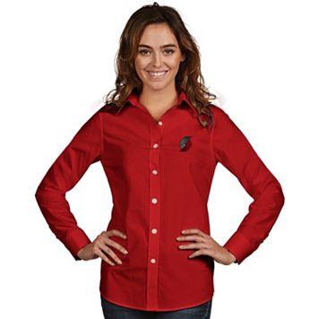Women's Antigua Portland Trail Blazers Dynasty Button-Down Shirt