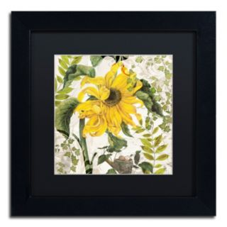 Trademark Fine Art Carina II Black Framed Wall Art