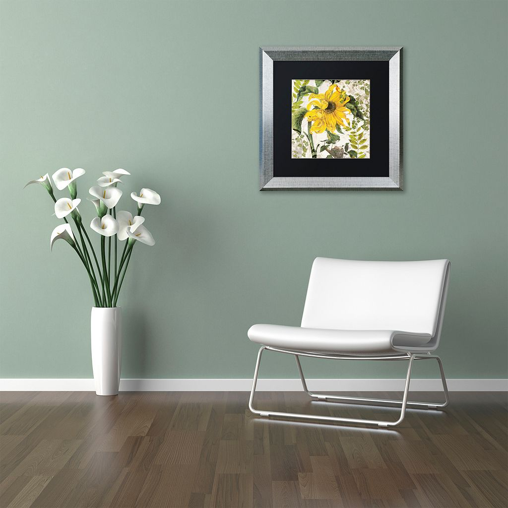 Trademark Fine Art Carina II Silver Finish Framed Wall Art