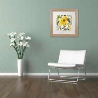 Trademark Fine Art Carina II Washed Finish Framed Wall Art