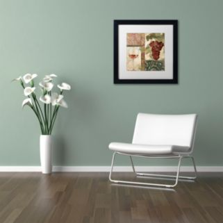 Trademark Fine Art Sofia I Black Framed Wall Art