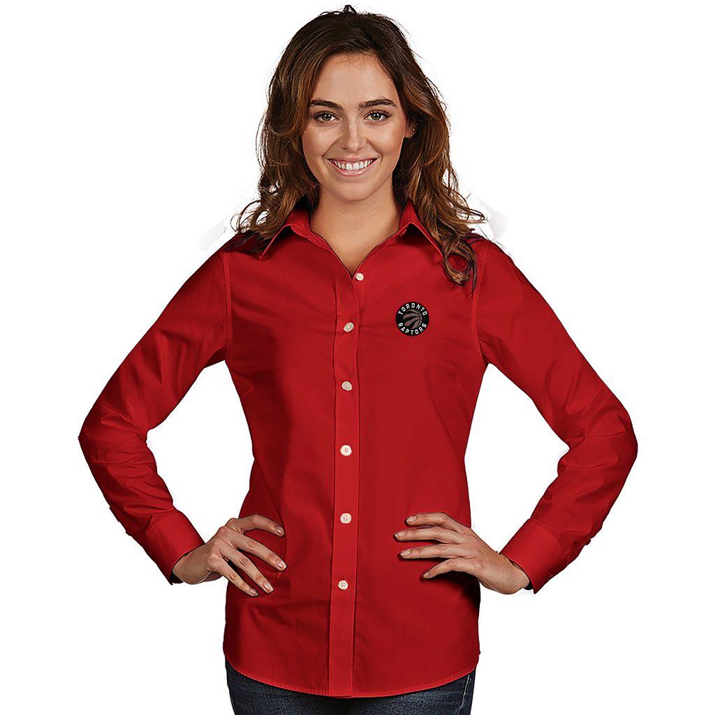 Women's Antigua Toronto Raptors Dynasty Button-Down Shirt