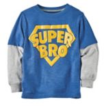 "Boys 4-8 Carter's ""Super Bro"" Mock Layer Graphic Tee"