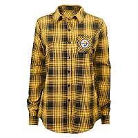 Juniors' Pittsburgh Steelers Dream Plaid Shirt
