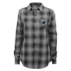 Juniors' Carolina Panthers Dream Plaid Shirt