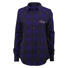 Juniors' Baltimore Ravens Dream Plaid Shirt