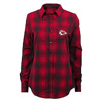Juniors' Kansas City Chiefs Dream Plaid Shirt