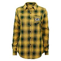 Juniors' Green Bay Packers Dream Plaid Shirt