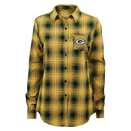 Juniors  Green Bay Packers Dream Plaid Shirt 34d8a6a71