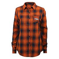 Juniors' Denver Broncos Dream Plaid Shirt
