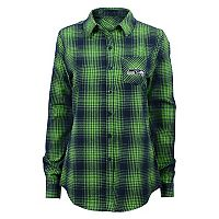 Juniors' Seattle Seahawks Dream Plaid Shirt