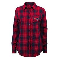 Juniors' New England Patriots Dream Plaid Shirt