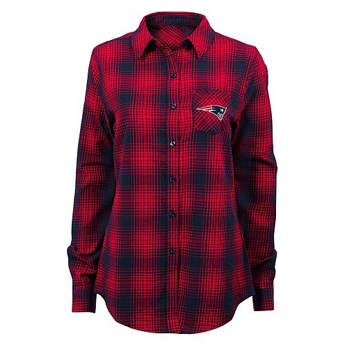 3f4ba499049 Juniors  New England Patriots Dream Plaid Shirt