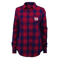 Juniors' New York Giants Dream Plaid Shirt