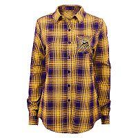 Juniors' Minnesota Vikings Dream Plaid Shirt