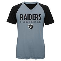 Girls 7-16 Oakland Raiders Decoder Ultra Jersey Tee