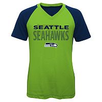 Girls 7-16 Seattle Seahawks Decoder Ultra Jersey Tee