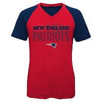 Girls 7-16 New England Patriots Decoder Ultra Jersey Tee