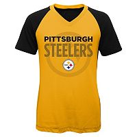 Girls 7-16 Pittsburgh Steelers Decoder Ultra Jersey Tee