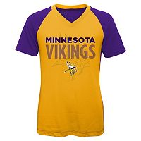 Girls 7-16 Minnesota Vikings Decoder Ultra Jersey Tee
