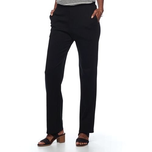 Women's Croft & Barrow® Pull-On Knit Lounge Pants