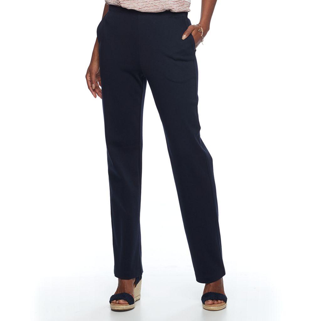 Women's Croft & Barrow® Pull-On Knit Pants