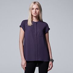 Petite Simply Vera Vera Wang Essential Popover Top