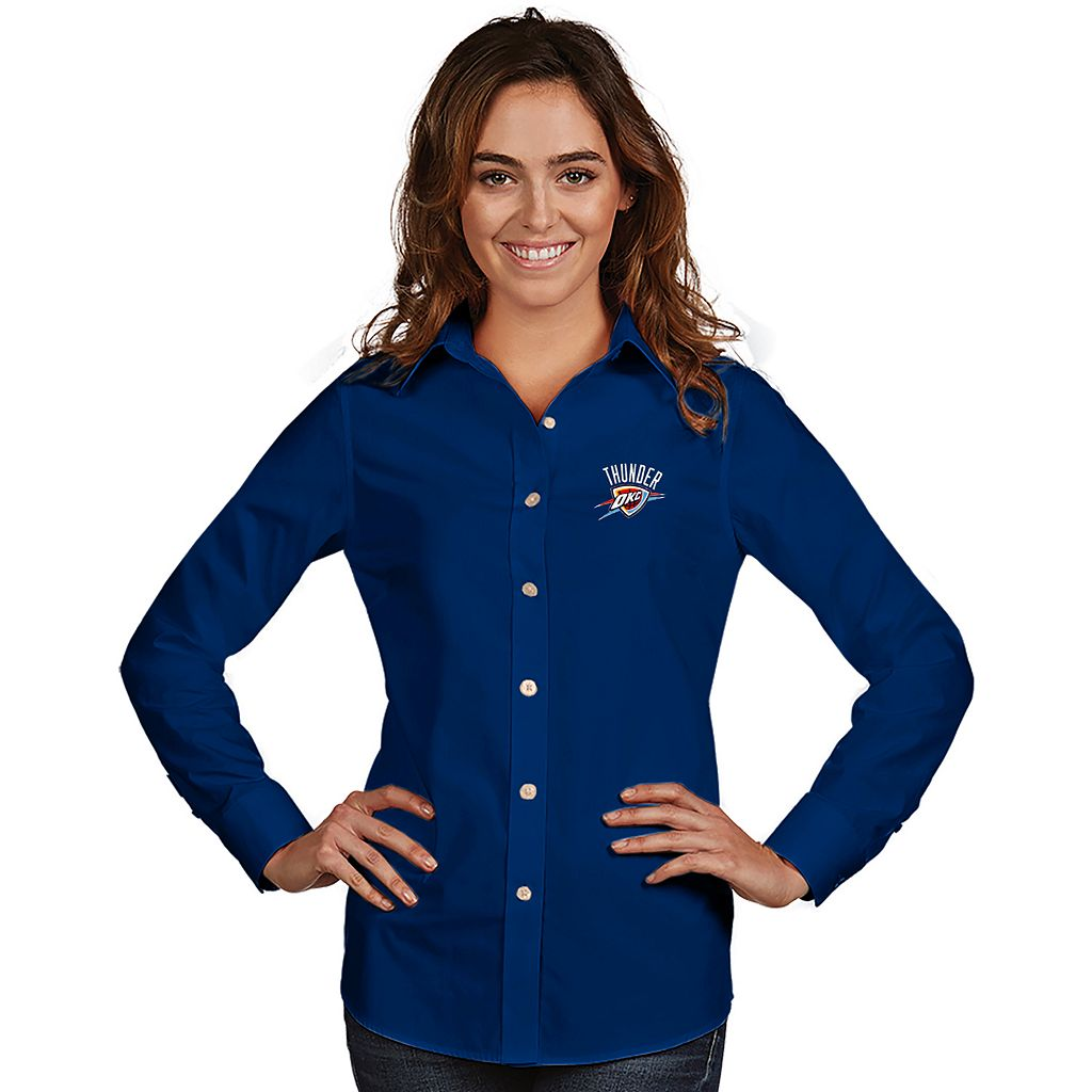 Women's Antigua Oklahoma City Thunder Dynasty Button-Down Shirt