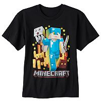 Boys 8-20 Minecraft Warrior Tee