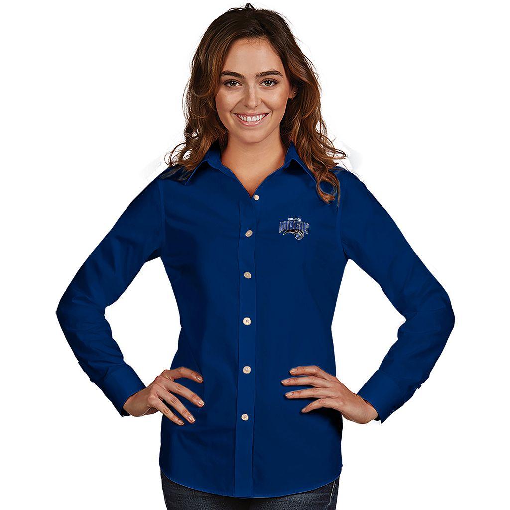 Women's Antigua Orlando Magic Dynasty Button-Down Shirt