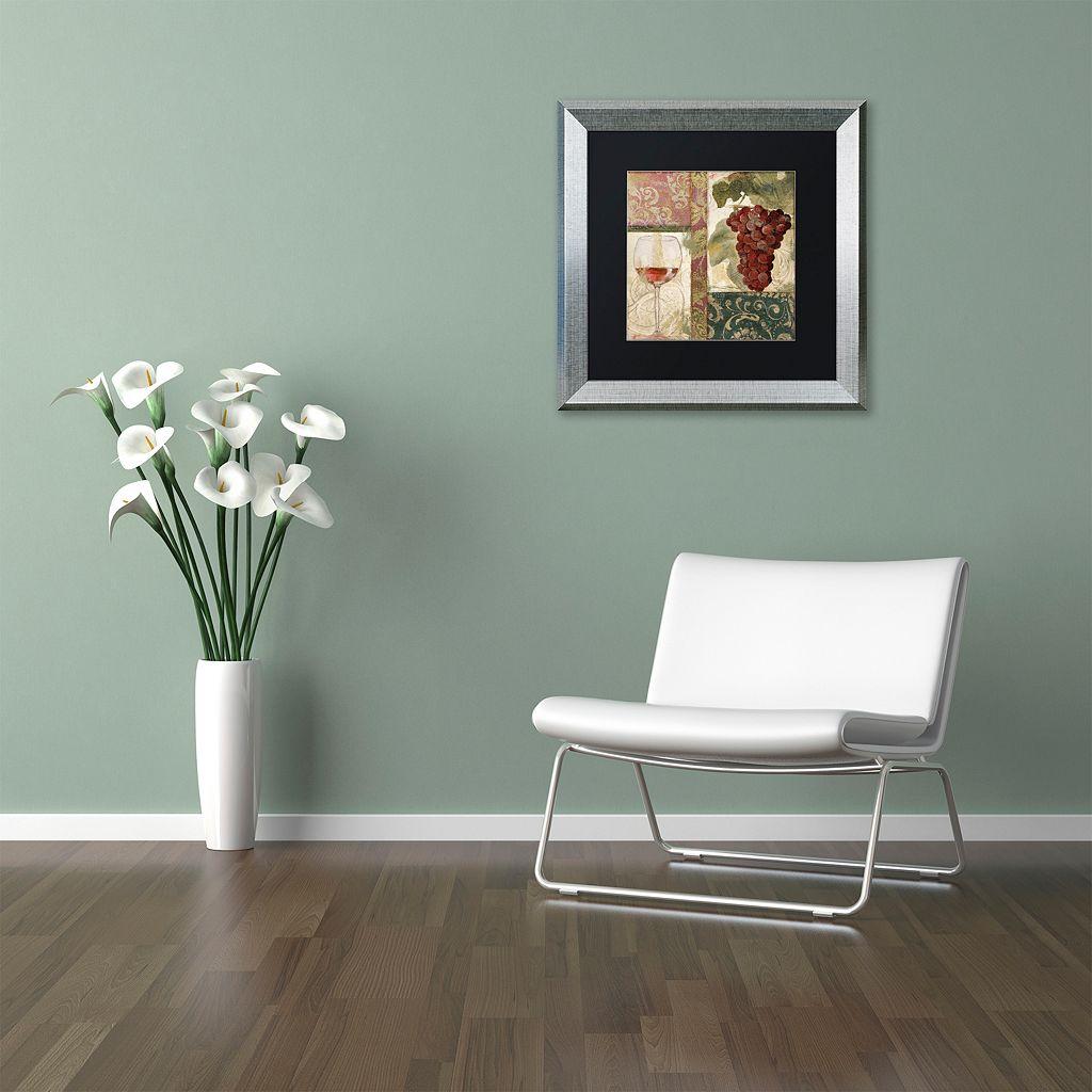 Trademark Fine Art Sofia I Silver Finish Framed Wall Art