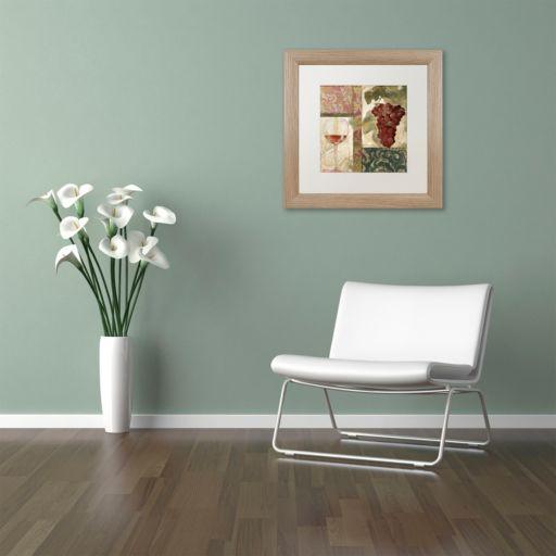 Trademark Fine Art Sofia I Washed Finish Framed Wall Art