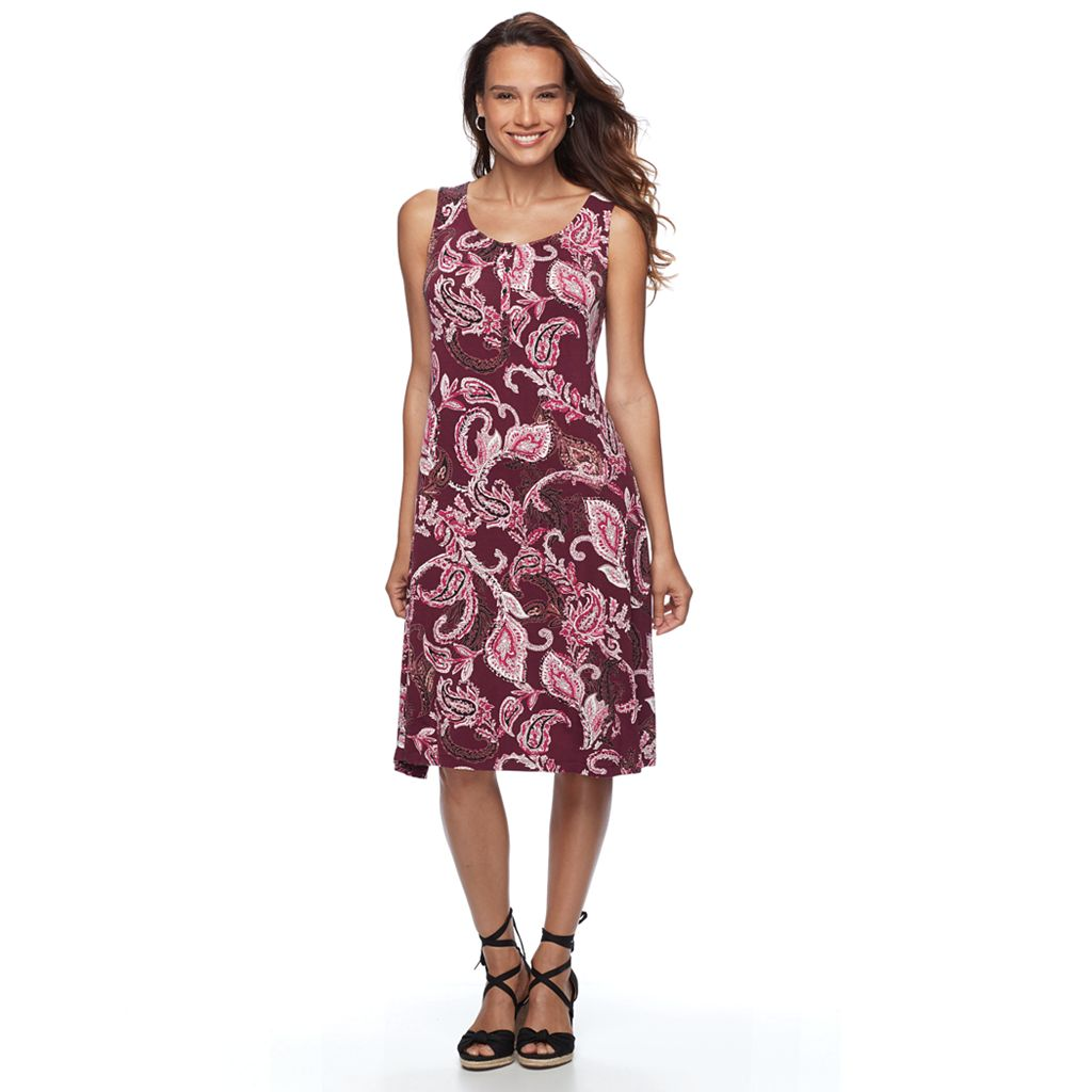 Women's Croft & Barrow® Jersey Henley Dress