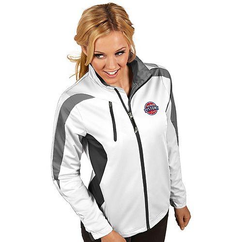 Women's Antigua Detroit Pistons Discover Full Zip Jacket