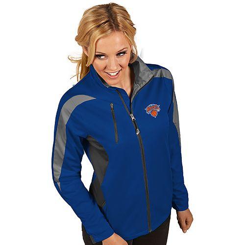 Women's Antigua New York Knicks Discover Full Zip Jacket