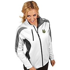 Women's Antigua Milwaukee Bucks Discover Full Zip Jacket