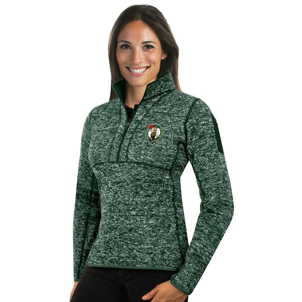 Women's Antigua Boston Celtics Fortune Pullover