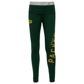 Juniors' Green Bay Packers Elastic Heart Leggings