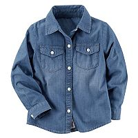 Toddler Girl Carter's Chambray Button-Down Shirt