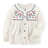 Toddler Girl Carter's Embroidered Crinkle Top