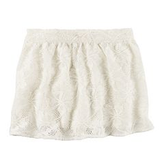 Toddler Girl Carter's Ivory Lace Skirt