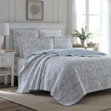Laura Ashley Lifestyles Coral Sea Quilt Set