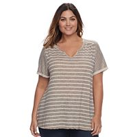Plus Size SONOMA Goods for Life™ Splitneck Tee