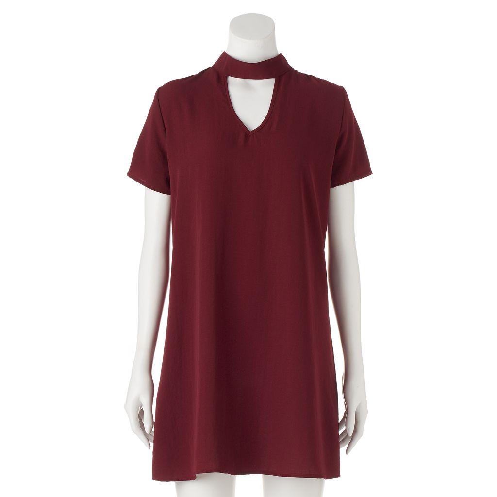Juniors' Trixxi Choker Shift Dress