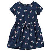 Toddler Girl Carter's Short Sleeve Floral Dress