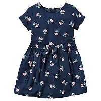Toddler Girl Carter's Short Sleeve Floral Dress