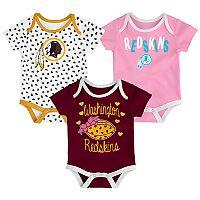 Baby Washington Redskins Heart Fan 3-Pack Bodysuit Set