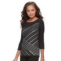 Petite Dana Buchman Striped Boatneck Top