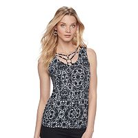 Women's Rock & Republic® Strappy Ring Tank