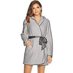 Women's Maidenform Satin Trim Plush Robe